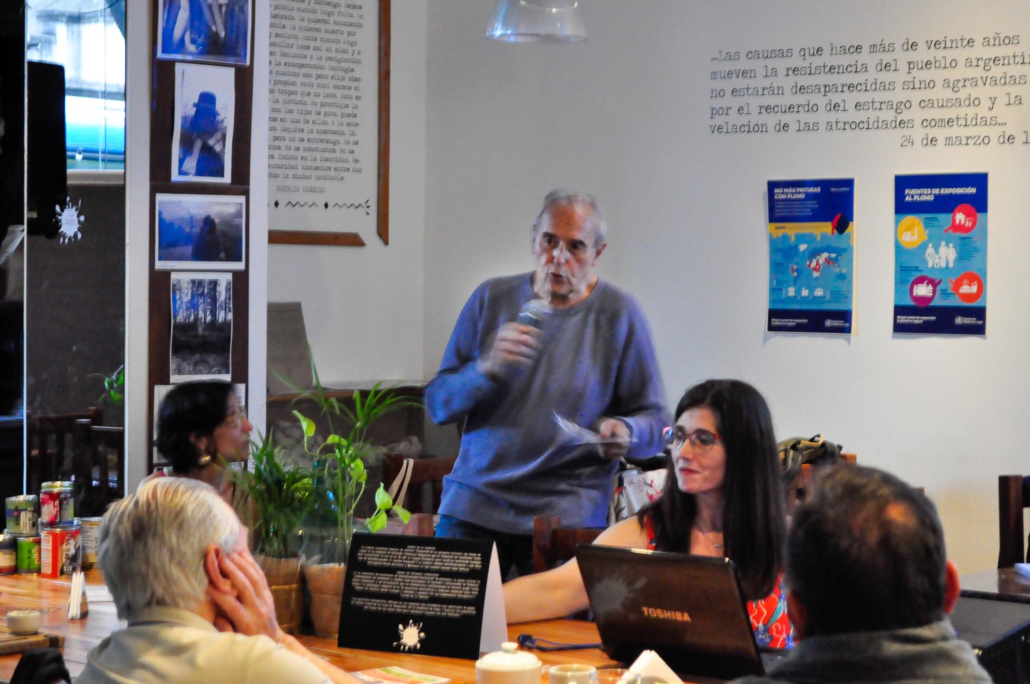 Plomo en pinturas: charla de concientización y debate