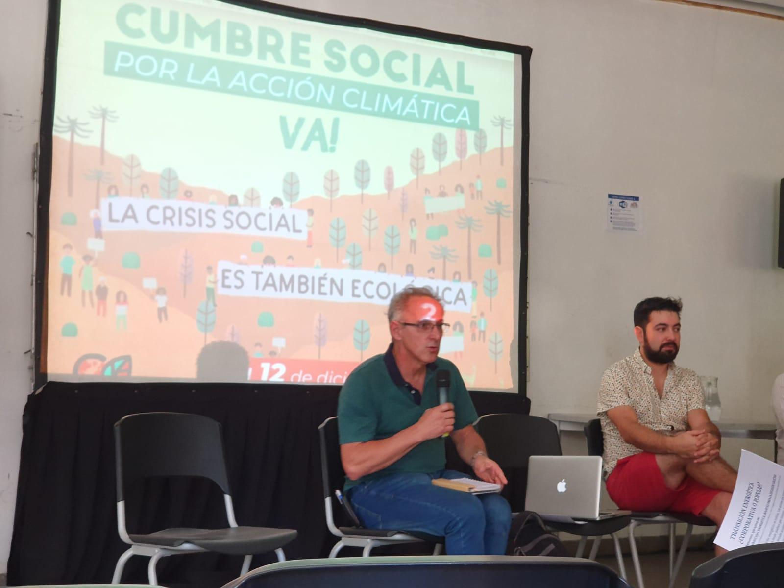 Taller Ecologista en la Cumbre de los Pueblos que se realiza en Chile