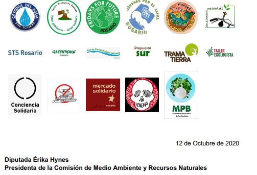 No a los bioplásticos: Nota entregada a Diputados
