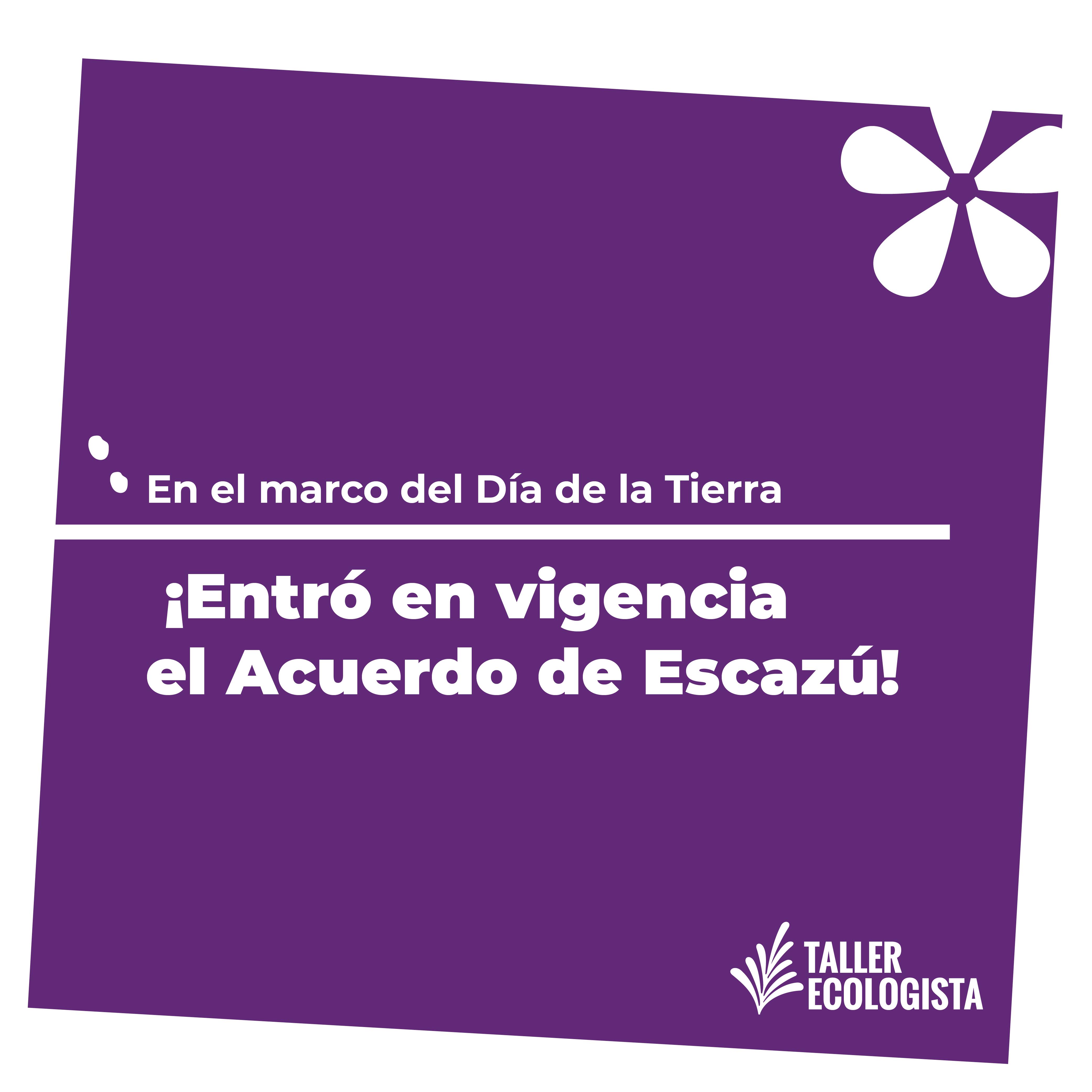 Celebramos la entrada en vigencia del Acuerdo de Escazú