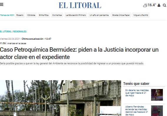 Caso Petroquímica: Piden a la justicia incorporar un actor clave