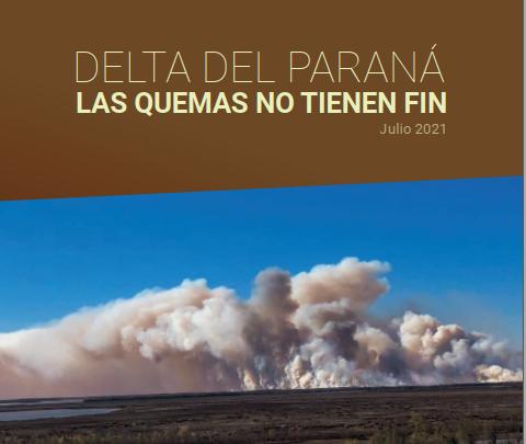 Informe: Delta del Paraná. Las quemas no tienen fin